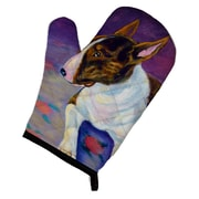 East Urban Home Bull Terrier Purple/Gray Oven Mitt
