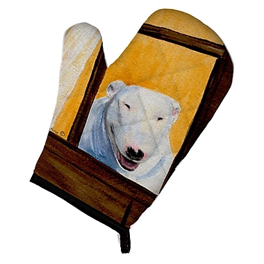 East Urban Home Bull Terrier Yellow/Brown Oven Mitt