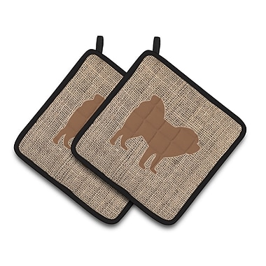 East Urban Home Chow Chow Potholder w/ Hanging Tab (Set of 2); Brown