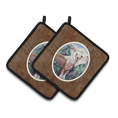 East Urban Home Chinese Crested Potholder (Set of 2)