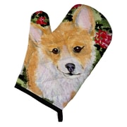 East Urban Home Corgi Orange/White Oven Mitt