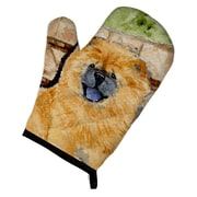 East Urban Home Chow Chow Patterned Oven Mitt