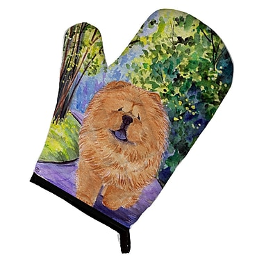East Urban Home Chow Chow Patterned Green/Brown Oven Mitt