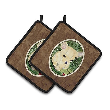 East Urban Home Chihuahua Potholder (Set of 2)