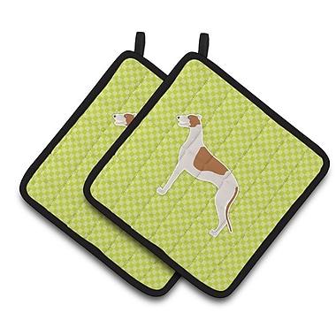East Urban Home Greyhound ?Potholder (Set of 2); Green