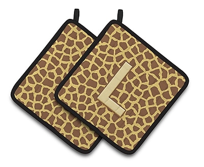 East Urban Home Brown/Yellow Potholder (Set of 2) (Set of 2); L