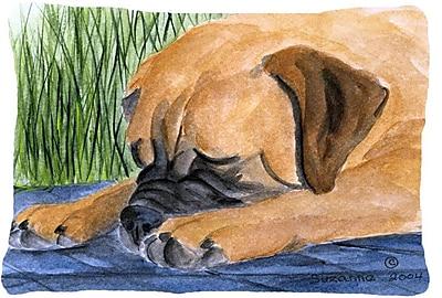 East Urban Home Bullmastiff Rectangular Indoor/Outdoor Throw Pillow