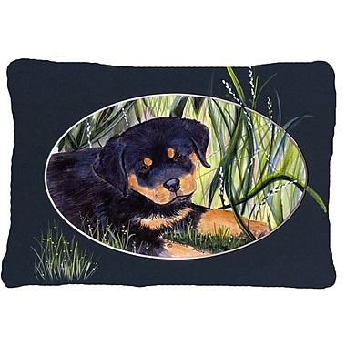 East Urban Home Rottweiler Rectangular Indoor/Outdoor Throw Pillow