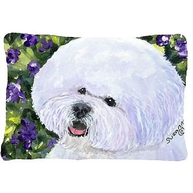 East Urban Home Bichon Frise Rectangular Indoor/Outdoor Throw Pillow