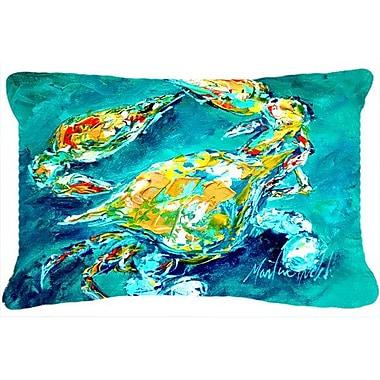East Urban Home Coastal Crab Indoor/Outdoor Throw Pillow
