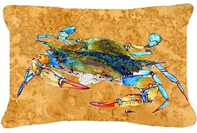 East Urban Home Crab Brown Indoor/Outdoor Throw Pillow