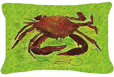 East Urban Home Crab Green/Brown Indoor/Outdoor Throw Pillow