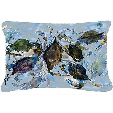 East Urban Home Crab Graphic Print Indoor/Outdoor Throw Pillow