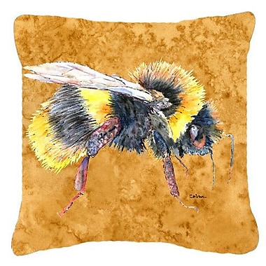East Urban Home Bee Square Indoor/Outdoor Throw Pillow; 14'' H x 14'' W x 4'' D
