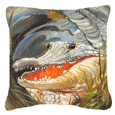 East Urban Home Alligator Graphic Print Indoor/Outdoor Throw Pillow; 14'' H x 14'' W x 4'' D