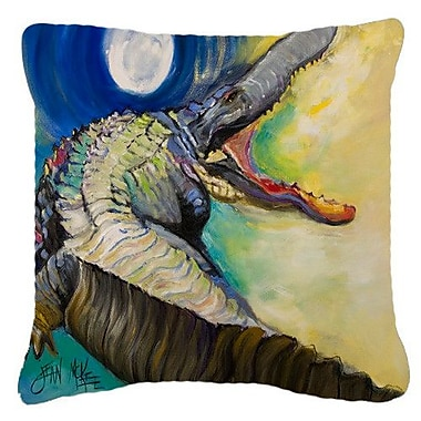 East Urban Home Alligator Square Indoor/Outdoor Throw Pillow; 18'' H x 18'' W x 5.5'' D