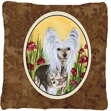 East Urban Home Chinese Crested Square Indoor/Outdoor Throw Pillow