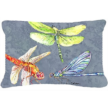 East Urban Home Dragonfly Times Three Indoor/Outdoor Throw Pillow