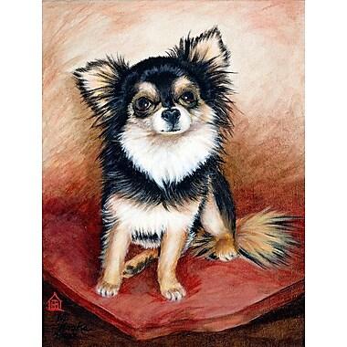 East Urban Home Chihuahua Long Hair Vertical Flag
