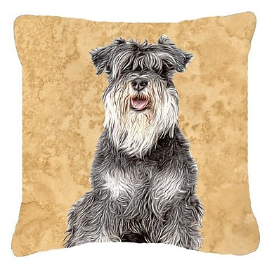 East Urban Home Schnauzer Square Indoor/Outdoor Throw Pillow; 18'' H x 18'' W x 5.5'' D