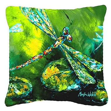 East Urban Home Dragonfly Summer Flies Indoor/Outdoor Square Throw Pillow; 14'' H x 14'' W x 4'' D