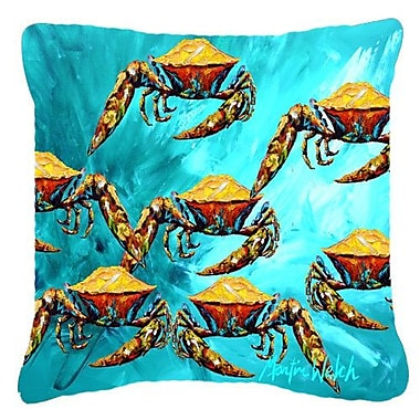 East Urban Home Lotta Crabs Indoor/Outdoor Throw Pillow; 18'' H x 18'' W x 5.5'' D