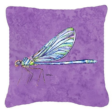 East Urban Home Dragonfly Square Indoor/Outdoor Throw Pillow; 14'' H x 14'' W x 4'' D