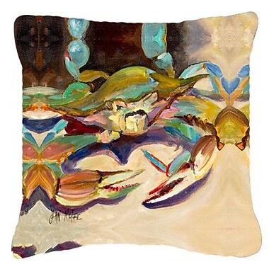East Urban Home Crab Indoor/Outdoor Throw Pillow; 14'' H x 14'' W x 4'' D