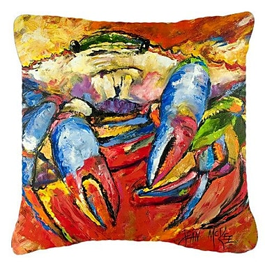 East Urban Home Red Crab Indoor/Outdoor Throw Pillow; 18'' H x 18'' W x 5.5'' D