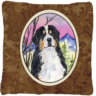 East Urban Home Dog Square Brown Indoor/Outdoor Throw Pillow