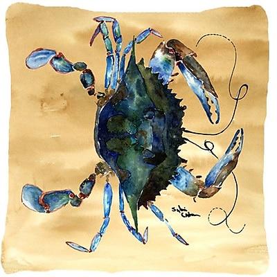East Urban Home Crab Beige/Green Indoor/Outdoor Throw Pillow