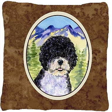 East Urban Home Portuguese Water Dog Graphic Print Indoor/Outdoor Throw Pillow