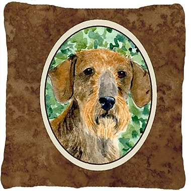East Urban Home Dachshund Brown Indoor/Outdoor Throw Pillow