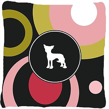 East Urban Home Chinese Crested Polka Dots Indoor/Outdoor Throw Pillow