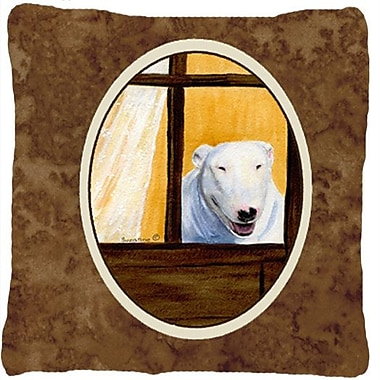 East Urban Home Bull Terrier Indoor/Outdoor Brown Throw Pillow