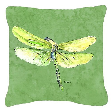 East Urban Home Dragonfly Indoor/Outdoor Square Throw Pillow; 14'' H x 14'' W x 4'' D