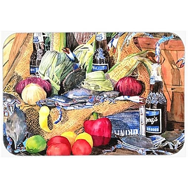 East Urban Home Crab and Bottle Glass Cutting Board