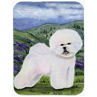 East Urban Home Bichon Frise Tempered Glass Cutting Board