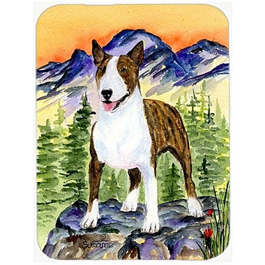 East Urban Home Bull Terrier and Mountain Glass Cutting Board