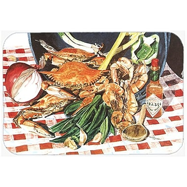 East Urban Home Crab Boil Glass Cutting Board