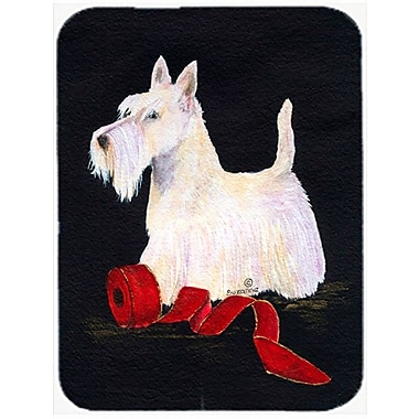 East Urban Home White Scottish Terrier Glass Cutting Board