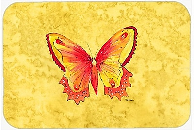 East Urban Home Butterfly Rectangle Tempered Glass Cutting Board
