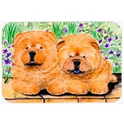 East Urban Home Two Brown Chow Chow Glass Cutting Board