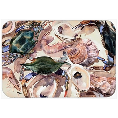 East Urban Home Crab and Oyster Glass Cutting Board