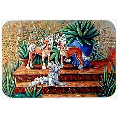 East Urban Home Chinese Crested Rectangle Tempered Glass Cutting Board