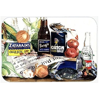 East Urban Home Barq's, Crabs, and Spices Glass Cutting Board
