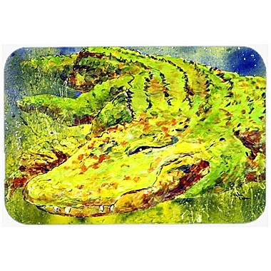 East Urban Home Alligator Rectangle Tempered Glass Cutting Board