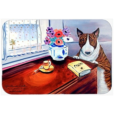 East Urban Home Bull Terrier Rectangle Glass Cutting Board