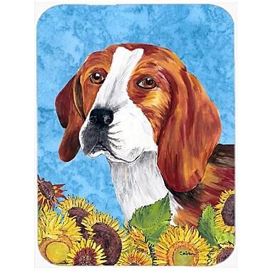 East Urban Home Beagle and Sunflower Glass Cutting Board