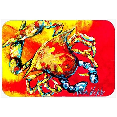 East Urban Home Crab Hot Dang Glass Cutting Board